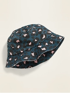 Fringed Canvas Bucket Hat for Girls
