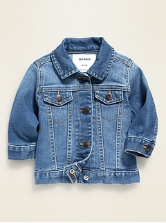 Unisex Medium-Wash Jean Jacket for Baby