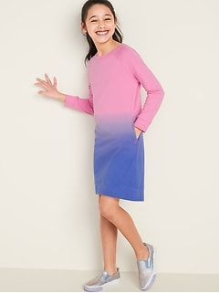 French Terry Sweatshirt Dress for Girls