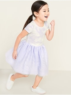 Short-Sleeve Tutu Dress for Toddler Girls