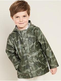 Veste à glissière hydrorésistant à capuchon pour tout-petit garçon