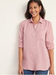 Pigment-Dyed Tencel® Twill Shirt for Women