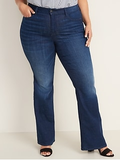 High-Waisted Secret-Slim Pockets Flare Plus-Size Jeans