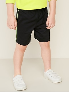 Mesh Side-Piping Shorts for Toddler Boys