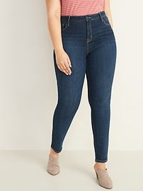 High-Waisted Dark-Wash Rockstar Super Skinny Jeans for Women