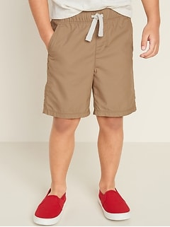Functional-Drawstring Pull-On Shorts for Toddler Boys