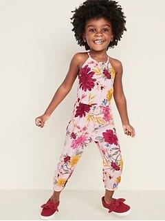 Printed Sleeveless Jumpsuit for Toddler Girls
