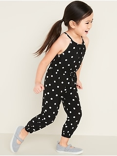 Printed Sleeveless Jumpsuit for Toddler Girls
