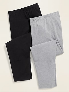 High-Waisted Plus-Size Cropped Leggings 2-Pack