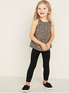 Printed Tunic Tank Top & Leggings Set for Toddler Girls