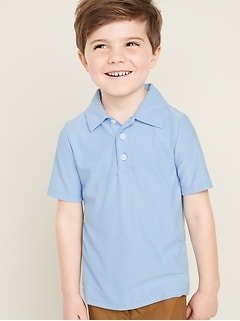 Moisture-Wicking Uniform Polo for Toddler Boys