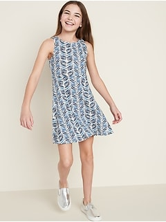 Fit & Flare Tank Dress for Girls