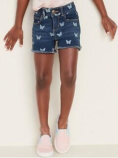 Frayed-Hem Jean Shorts for Toddler Girls