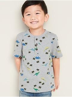 Henley en jersey à imprimé pour tout-petit garçon