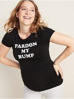 T-shirt col rond de maternité à imprimé