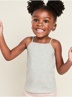 Jersey-Stretch Cami for Toddler Girls