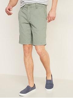 Short kaki d'aspect déjà porté pour homme, entrejambe de 25cm