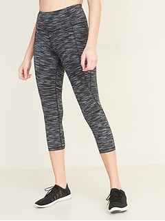 High-Waisted Elevate Side-Pocket Crop Leggings for Women
