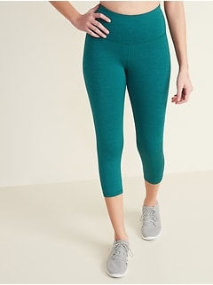 High-Waisted Elevate Compression Crops for Women