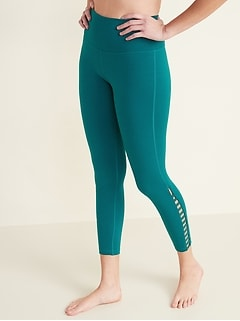 High-Waisted Balance Ladder-Hem Leggings for Women