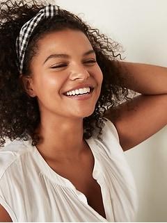 Bandeau recouvert de tissu pour femme