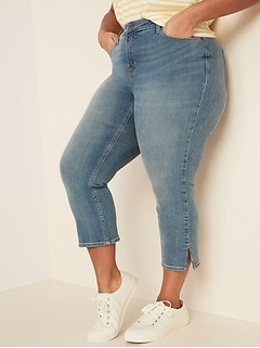 High-Waisted Secret-Slim Pockets Rockstar Super Skinny Plus-Size Cropped Jeans