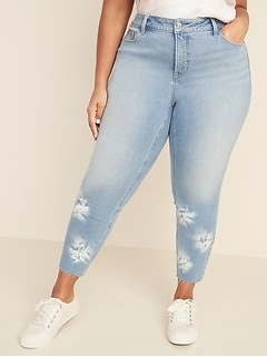 High-Waisted Secret-Slim Pockets Dip-Dye Rockstar Super Skinny Plus-Size Jean