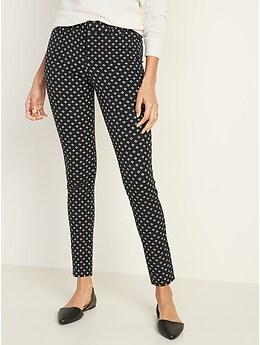 Pantalon Pixie à taille moyenne, longueur à la cheville pour femme