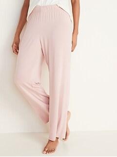 Straight Jersey-Knit Pajama Pants for Women