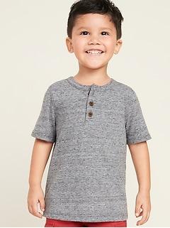 Short-Sleeve Henley for Toddler Boys