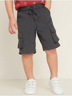 Dry-Quick Nylon Cargo Jogger Shorts for Toddler Boys