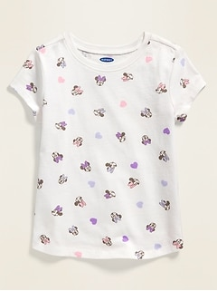 Disney© Minnie Mouse Printed Tee for Toddler Girls