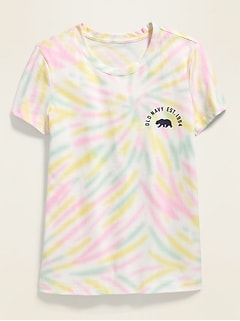 Loose-Fit Logo-Graphic Tee for Girls