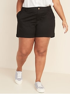 Mid-Rise Plus-Size Everyday Twill Shorts - 5-inch inseam