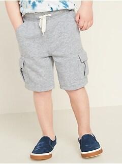 Fleece-Knit Cargo Shorts for Toddler Boys
