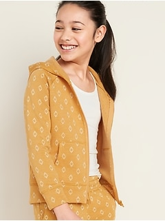 Zip-Front Hoodie for Girls