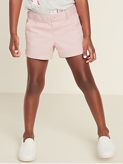 Pull-On Twill Shorts for Toddler Girls