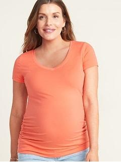 T-shirt de maternité cintré à col enV