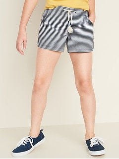 Functional-Drawstring Pull-On Shorts for Girls