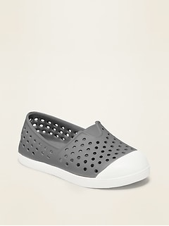 Perforated Slip-On Sneakers for Toddler Boys