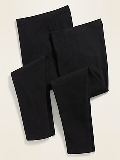 High-Waisted Full-Length Plus-Size Leggings 2-Pack