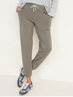 Mid-Rise French-Terry Utility Street Joggers for Women