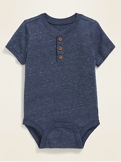 Short-Sleeve Henley Bodysuit for Baby
