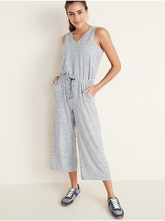 Breathe ON V-Neck Wide-Leg Jumpsuit for Women