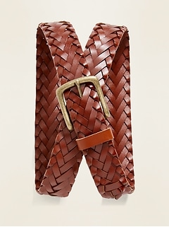 Braided Leather Belt for Men