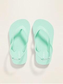 Solid-Color Flip-Flops for Toddler Girls