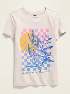 Graphic Crew-Neck Tee for Girls