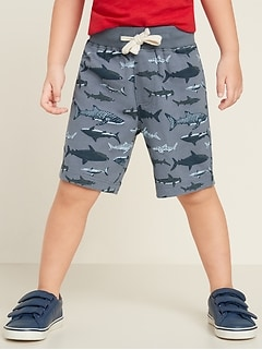 Jersey Functional-Drawstring Jogger Shorts for Toddler Boys