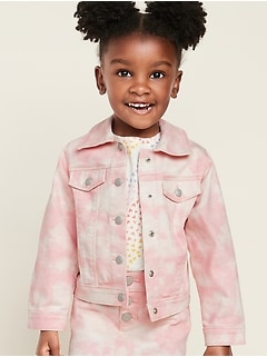 Tie-Dye Jean Jacket for Toddler Girls