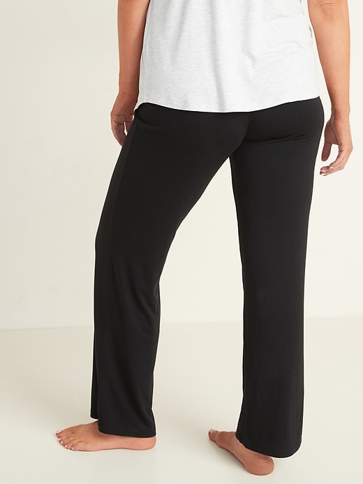 Maternity Fold-Over-Waist Jersey Lounge Pants
